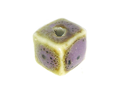 Z17137 17137 Cuenta ceramica cubo purpura Innspiro