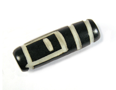 Z17221 17221 Cuenta de cuerno cilindro decorada Innspiro