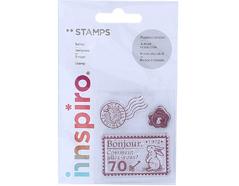 17303 Set sellos acrilicos Correos 5 3x6cm Innspiro