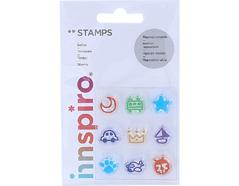 17305 Set sellos acrilicos Transporte y otros 5 3x6cm Innspiro