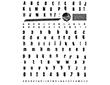 Set sellos acrílicos Abecedario imprenta 14x18cm.