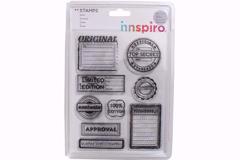 17347 Set sellos acrilicos Top Secret 14x18cm Innspiro