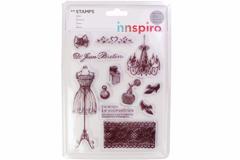17359 Set sellos acrilicos Costura elegante 14x18cm Innspiro