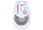 Cinta masking tape Washi foil estrellas plateado 15mm.x10m. Serie Metal
