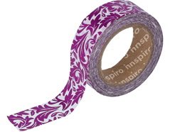 17403 Cinta masking tape Washi foil arabescos rosa 15mm x10m Innspiro
