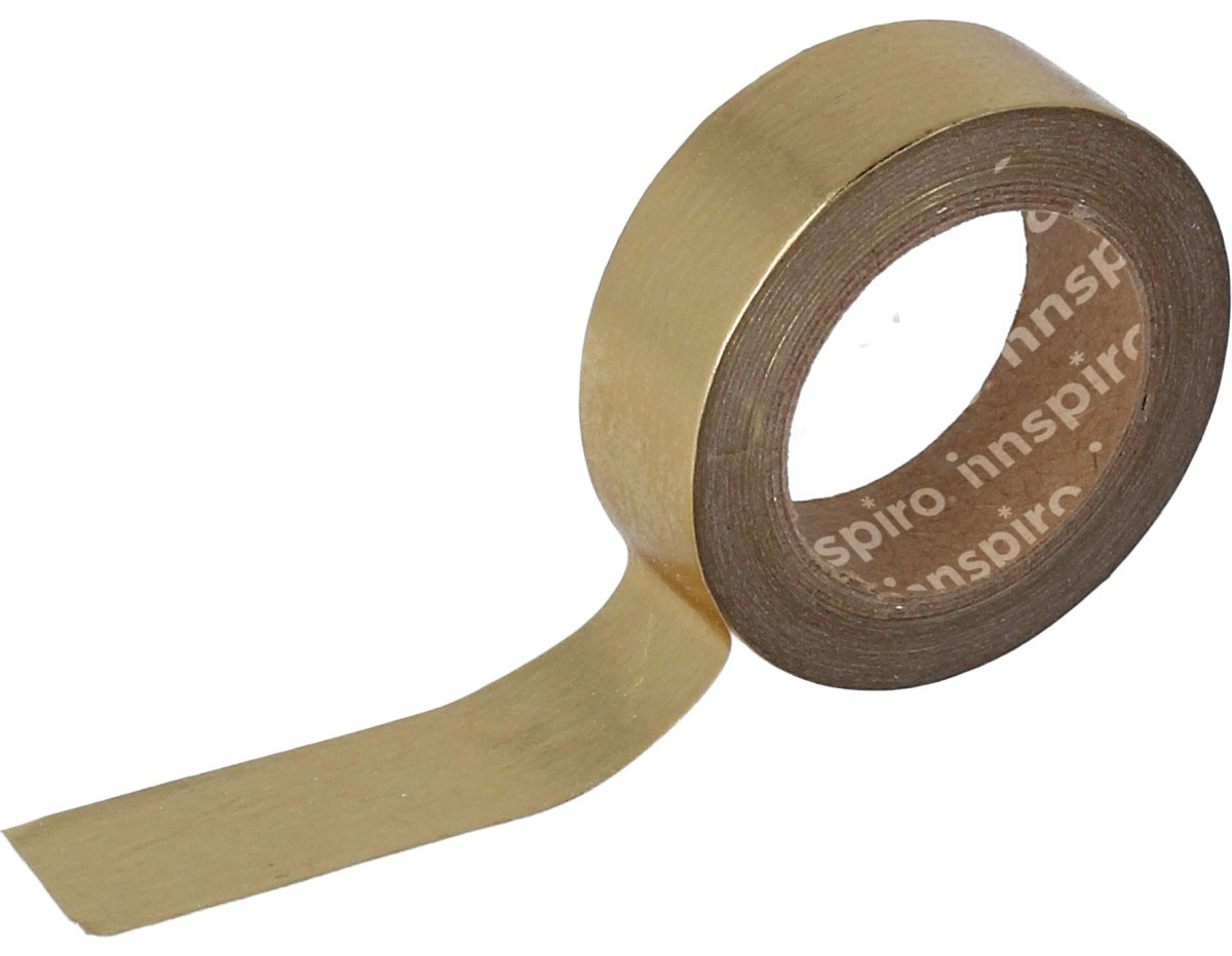 17411 Cinta masking tape Washi foil dorado 15mm x10m Innspiro
