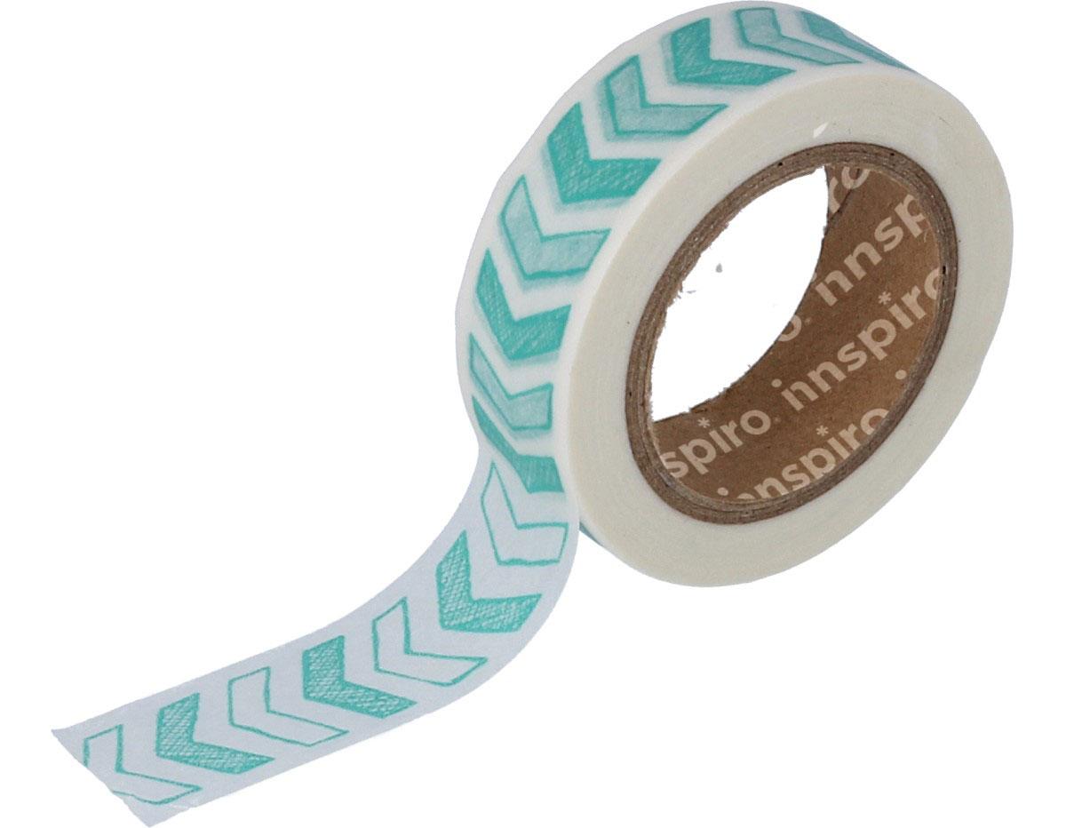 17414 Cinta masking tape Washi flechas azules 15mm x10m Innspiro