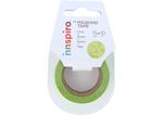 17438 Cinta masking tape Washi flores verdes 15mm x10m Innspiro - Ítem1