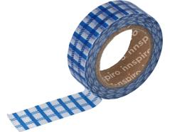 17446 Cinta masking tape Washi cuadrados azul 15mm x10xm Innspiro