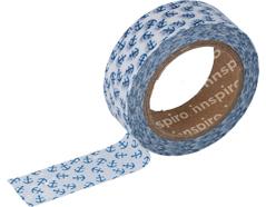 17448 Cinta masking tape Washi ancla azul 15mm x10xm Innspiro