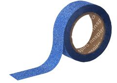 17471 Cinta masking tape purpurina azul 15mm x6 5m Innspiro