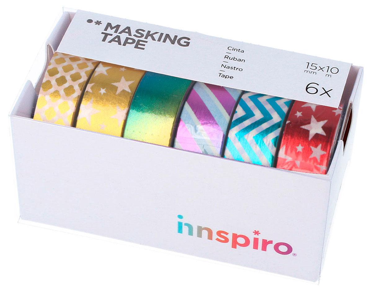 17500 Set 6 cintas masking tape Washi foil Serie metal Innspiro
