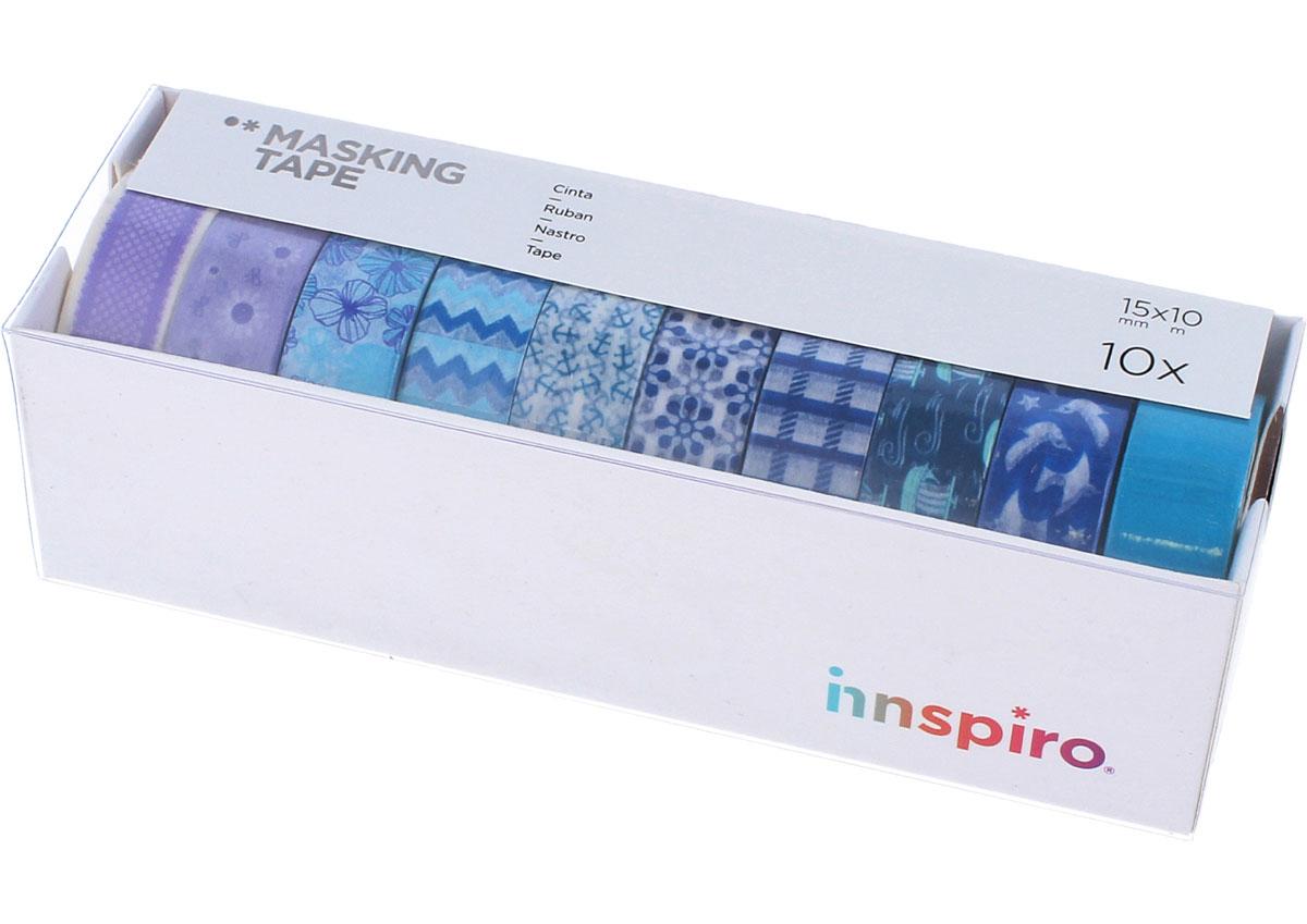 17512 Set 10 cintas masking tape Washi Serie ultramar Innspiro