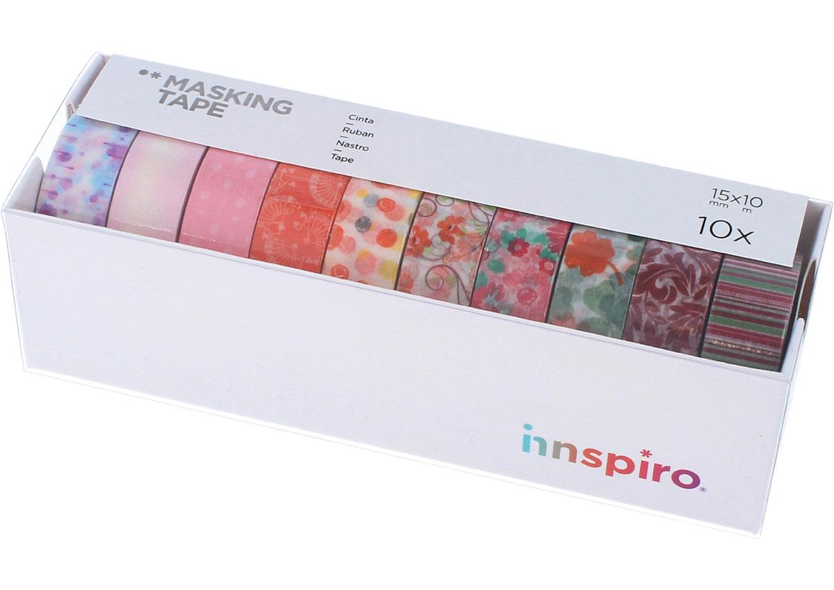 17513 Set 10 cintas masking tape Washi Serie floral Innspiro