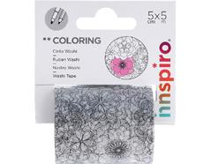 18201 Cinta washi tape para colorear COLORING Floral Innspiro - Ítem