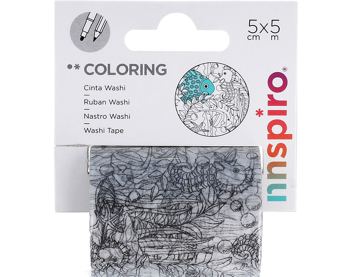 18202 Cinta washi tape para colorear COLORING Oceano Innspiro