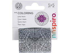 18205 Cinta washi tape para colorear COLORING Estrellas Innspiro