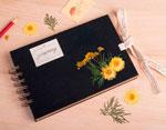 1904 Flor seca prensada golden wawe amarillo Innspiro - Ítem2
