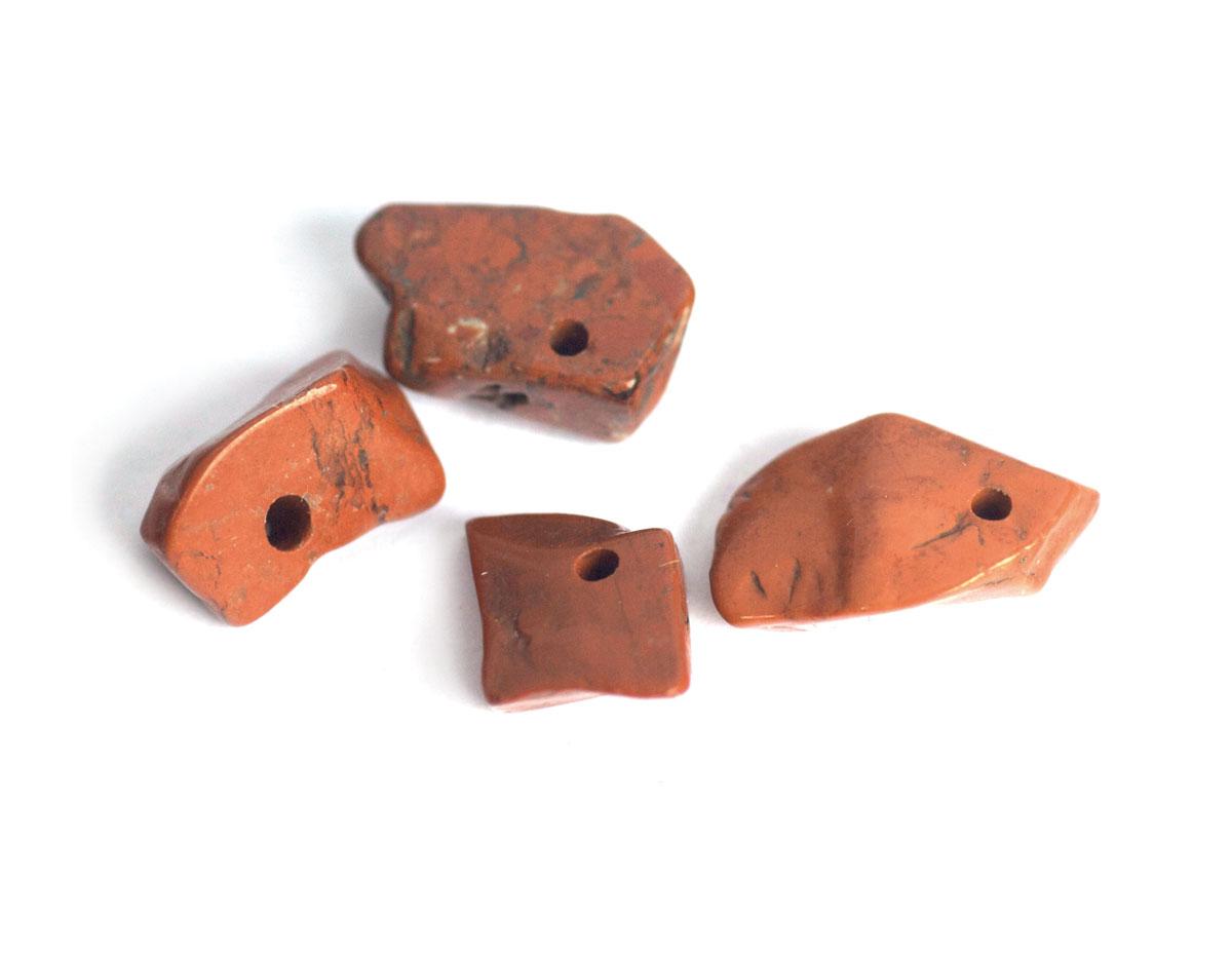 19103 Cuenta semipreciosa piedra de forma irregular jaspe rojo Innspiro