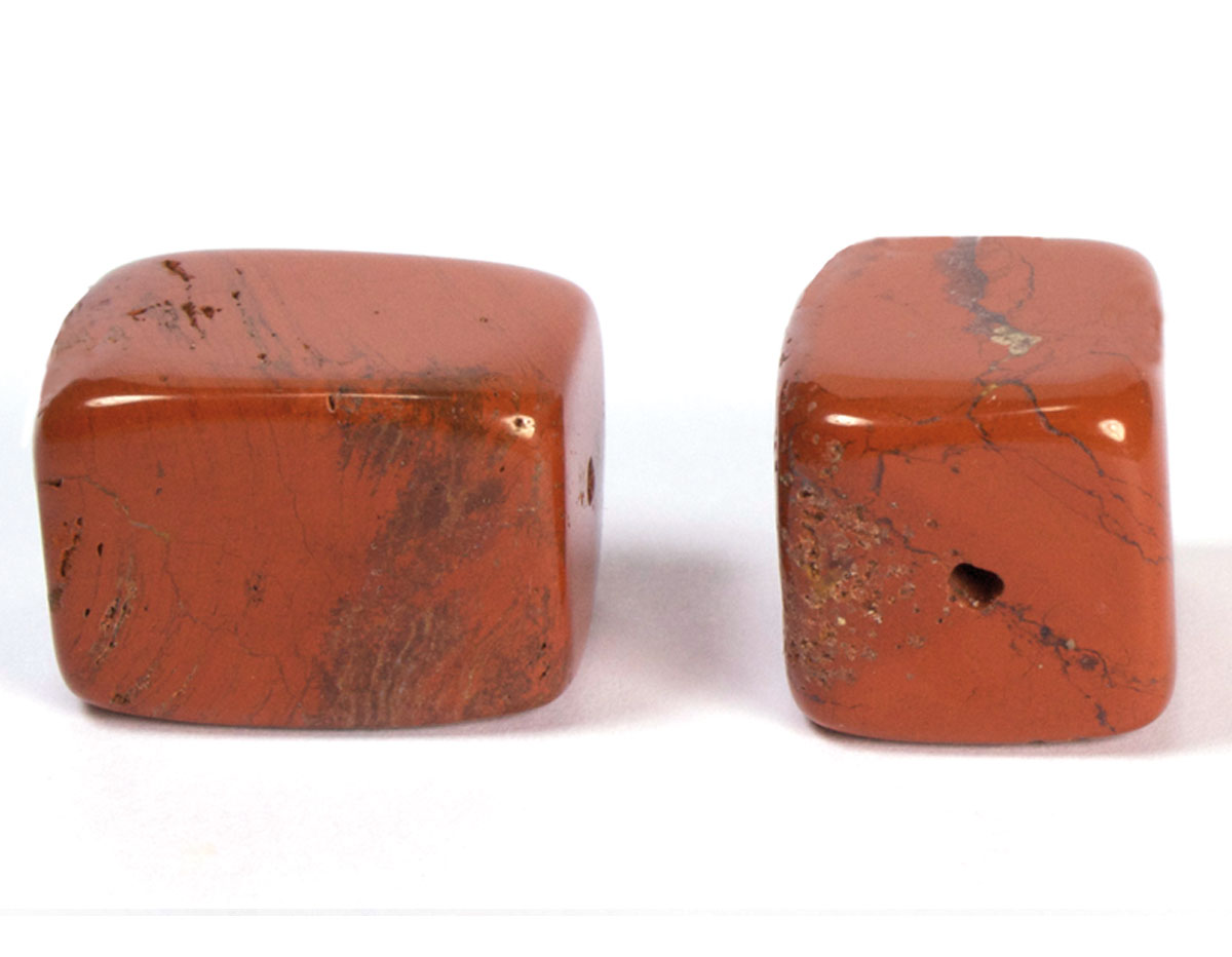 19123 Cuenta semipreciosa piedra jaspe rojo Innspiro