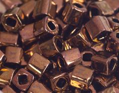 Z192224 192224 Cuentas japonesas cubo metalico bronce Toho