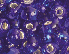 Z198028 198028 Cuentas japonesas magatama plateada azul marino Toho