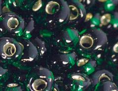 Z198036 198036 Cuentas japonesas magatama plateada verde Toho