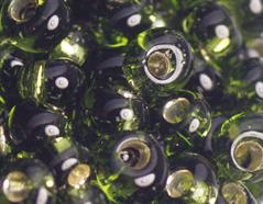 Z198037 198037 Cuentas japonesas magatama plateada verde oliva Toho