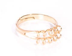 200034 A200034 Anillo metalico y ajustable con anillas dorado para coser Innspiro