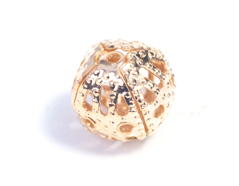200038 A200038 Cuenta laton bola filigrana dorado Innspiro