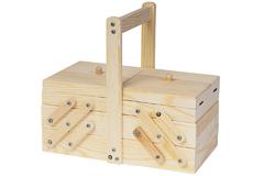 200 Costurero madera de pino macizo acordeon Innspiro