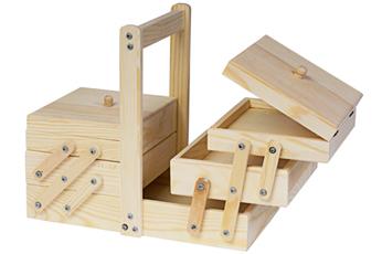 200 Costurero madera de pino macizo acordeon Innspiro - Ítem1