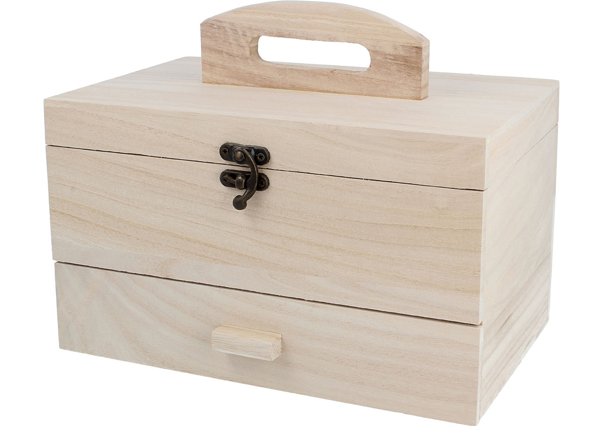 201 Costurero madera balsa con cajon Innspiro