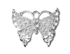 202153 Figura montaje metalica mariposa plateada para incrustar Innspiro