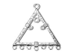 202157 Figura montaje metalica triangulo plateada Innspiro
