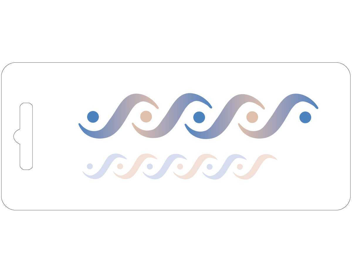 20324 Plantilla doble ondas Innspiro