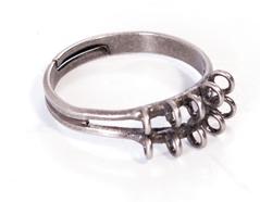 204034 A204034 Anillo metalico y ajustable con anillas plateado envejecido para coser Innspiro