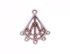 204151 Figura montaje metalica campana plateada envejecida Innspiro