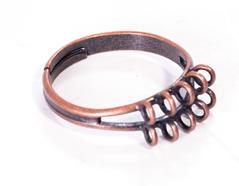 206034 A206034 Anillo metalico y ajustable con anillas cobrizo envejecido para coser Innspiro