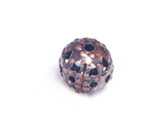 206036 A206036 Cuenta laton bola filigrana cobrizo envejecido Innspiro
