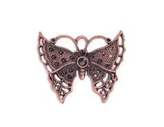 206153 Figura montaje metalica mariposa cobriza envejecida para incrustar Innspiro