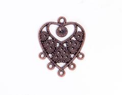 206158 Figura montaje metalica corazon cobriza envejecida para incrustar Innspiro