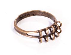 208034 A208034 Anillo metalico y ajustable con anillas dorado envejecido para coser Innspiro
