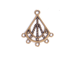 208151 Figura montaje metalica campana dorada envejecida Innspiro
