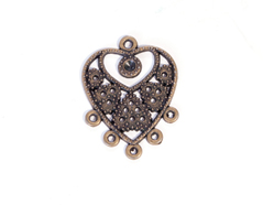 208158 Figura montaje metalica corazon dorada envejecida para incrustar Innspiro