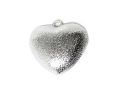A210207 210207 Colgante metalico cobre pulido corazon plateado Innspiro