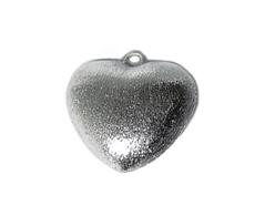 A210407 210407 Colgante metalico cobre pulido corazon plateado envejecido Innspiro