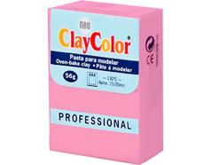 2104 Pasta polimerica Basicos rosa fuerte ClayColor