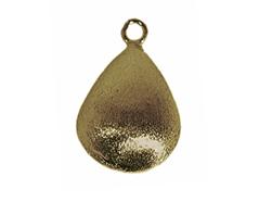 A210806 210806 Colgante metalico cobre pulido gota dorado envejecido Innspiro
