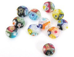 21120 Z21120 Cuenta de vidrio milflores disco multicolor Innspiro